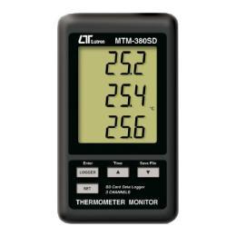 เครื่องวัดบันทึกค่าอุณหภูมิ พร้อม SD Car