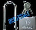 แม่กุญแจแขวนถอดได้ 50mm.+ฝาครอบลูกบิดSENDAI