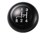 ปุ่มหัวเกียร์ สีดำ 7 มม. Black Shift Knob, 7 mm