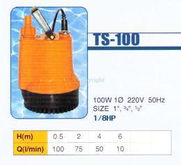 ปั๊มแช่ รุ่น TS-100 เสื้อพลาสติก