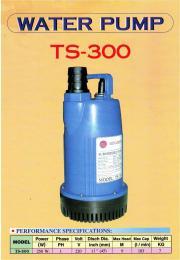 ปั๊มแช่ รุ่น TS-300 เสื้อพลาสติก