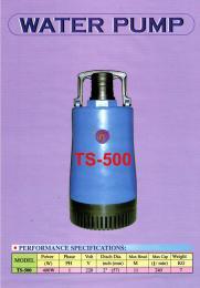 ปั๊มแช่ รุ่น TS-500 เสื้อพลาสติก
