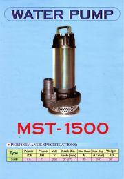 ปั๊มแช่ รุ่น MST-1500 เสื้อสแตนเลส