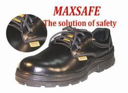 รองเท้าหุ้มส้นหนังผิวอัดลายสีดำพื้น PU