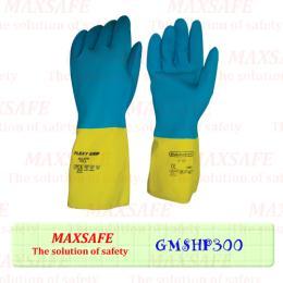 ถุงมือยางฟ้า – เหลือง กันเคมี