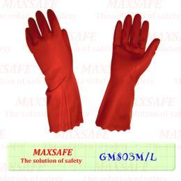 ถุงมือ PVC  แบบมีซับชนิดหนา
