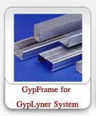 โครงคร่าวเหล็กชุปสังกะสี ของระบบยิปซัม GypLyner