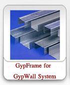 โครงคร่าวเหล็กชุปสังกะสี ของระบบยิปซัม GypWall