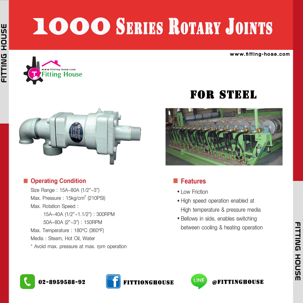 ROTARY JOINT Series 1000