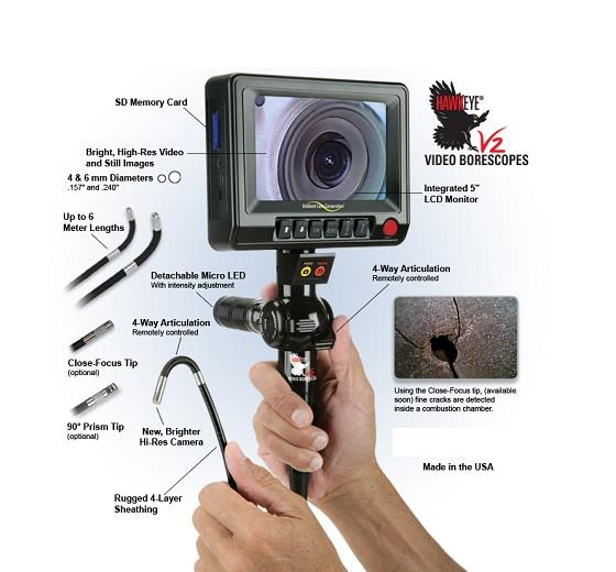 V2 Flexible Video Borescope