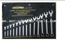 ชุดประแจแหวนข้างปากตาย 14 ตัว CROSS MAN (เบอร์ 8-24 mm