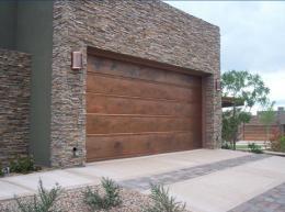 ประตูโรงรถผนังทองแดง