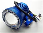 ไฟสปอร์ตไลท์ มอเตอร์ไซค์ LED 12V 10W มีไฟวงแหวน LED สีฟ้า