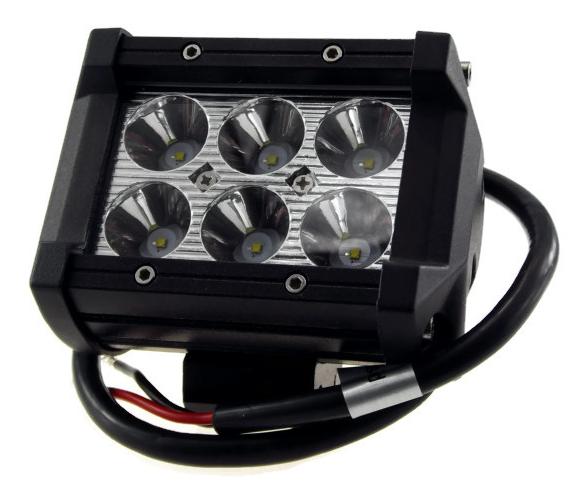 ไฟสปอร์ตไลท์ LED 6x3W 18w โคมอลู CNC 12V 24V (640)