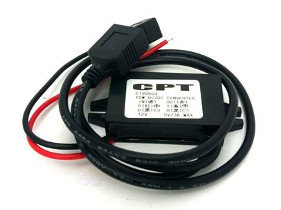 วงจรแปลงไฟ 12V 24V เป็น USB 5V 3A กันน้ำ (584)
