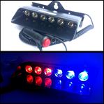 ไฟฉุกเฉิน LED 12V 6 X 2W แบบวางบนคอนโซล (340)