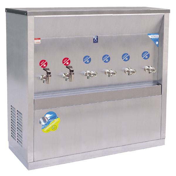 ตู้ทำน้ำร้อน - น้ำเย็น แบบต่อท่อ 6 ก๊อก รุ่น MCH - 6P
