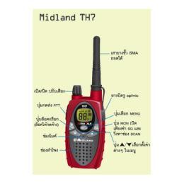 วิทยุสื่อสาร MIDLAND-TH7