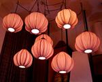 โคมไฟโครงเหล็ก shade ผ้า LF-001