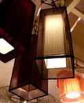 โคมไฟโครงเหล็ก shade ผ้า LF-009