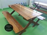 ชุดโต๊ะไม้สนาม โต๊ะอาหาร