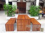โต๊ะไม้ระแนงกล่องไม้ระแนงงานไม้เต็ง