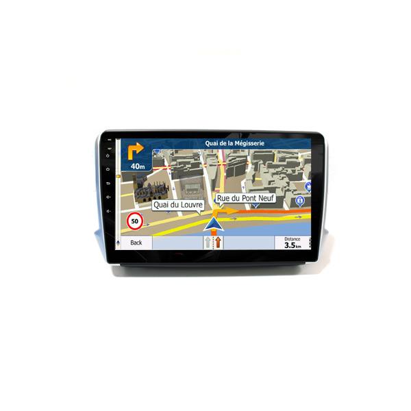 Wholesaler Car Dvd Audio Head Unit Peugeot 2008 GPS Navigator