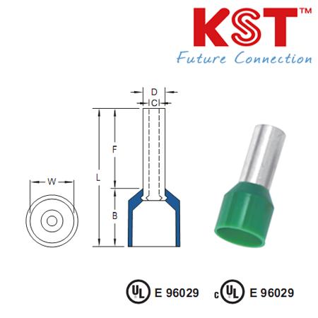 ข้อต่อย้ำสายแบบเดี่ยวหุ้ม nylon-insulated  cord end terminals e series