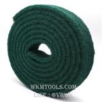 แผ่นใยขัดสก๊อตไบรต์ม้วน สีเขียว ขนาด 7x5.7mm.