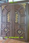 ประตูไม้สัก บานคู่ ลาย GBB-17