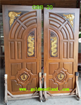 ประตูไม้สัก บานคู่ ลาย GBB-20