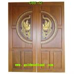 ประตูไม้สัก บานคู่ ลาย GBB-32