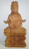 พระแม่กวนอิมแกะจากไม้หอม ขนาดสูง 12 นิ้ว รหัส w068 ราคา 4000 บาท (เข้าพิธีแล้ว)