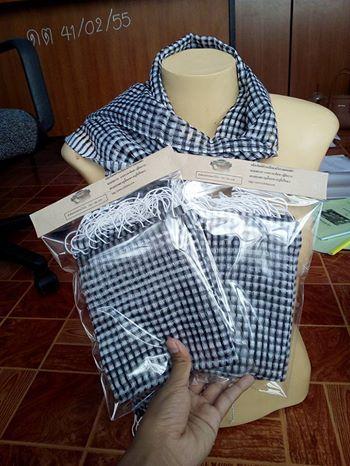 ผ้าพันคอลายแซงโปร่ง