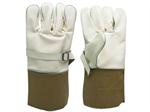 ถุงมือหนังสำหรับสวมทับถุงมือยาง ป้องกันไฟฟ้า