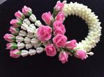 พวงมาลัยดอกข่ากุหลาบจากดินไทยประดิษฐ์