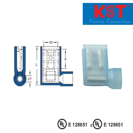 ข้อต่อหุ้มรูปธง nylon-insulated flag female disconnectors normal type