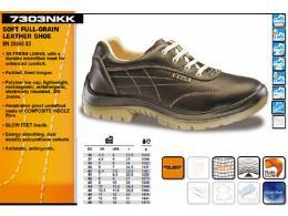 รองเท้า Safety หนังแท้ แบบนิ่มเรียบ