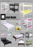 เตียงเหล็ก 2 ชั้นหนา พร้อมที่นอน 2 ชิ้นตามรูป สินค้าใหม่ในราคาโรงงาน ชุดละ 4,990 บาทโทร089-1416374