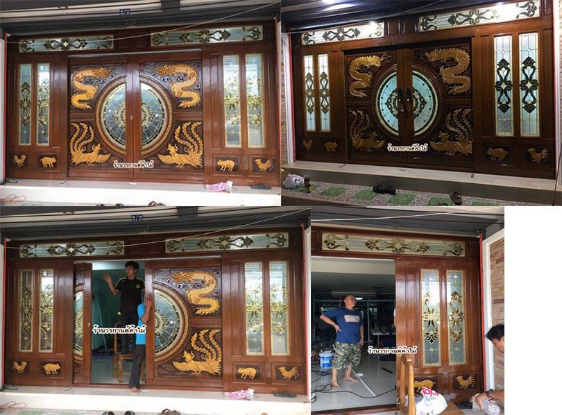 ประตูไม้สักบานเลื่อน ประตูไม้บานคู่ ประตูไม้สักบานเดี่ยว ประตูหน้าต่างไม้สัก ประตูไม้สักโมเดิร์น