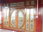 ประตูไม้สัก ประตูไม้สักกระจกนิรภัย ประตูไม้สักบานคู่ เฟอร์นิเจอร์ไม้สัก