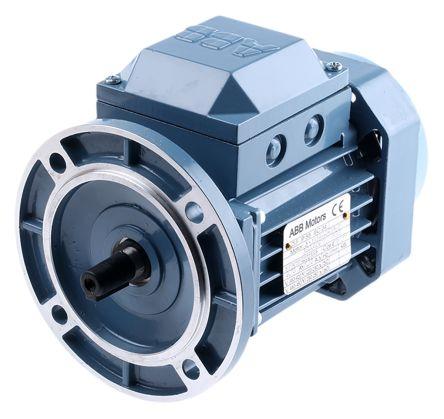 มอเตอร์ ABB M2QA 0.37kW1/2HP2Pole 3000rpm แบบหน้าแปลน รุ่น B5 เฟรมเหล็กหล่อ 3phase 230/400V