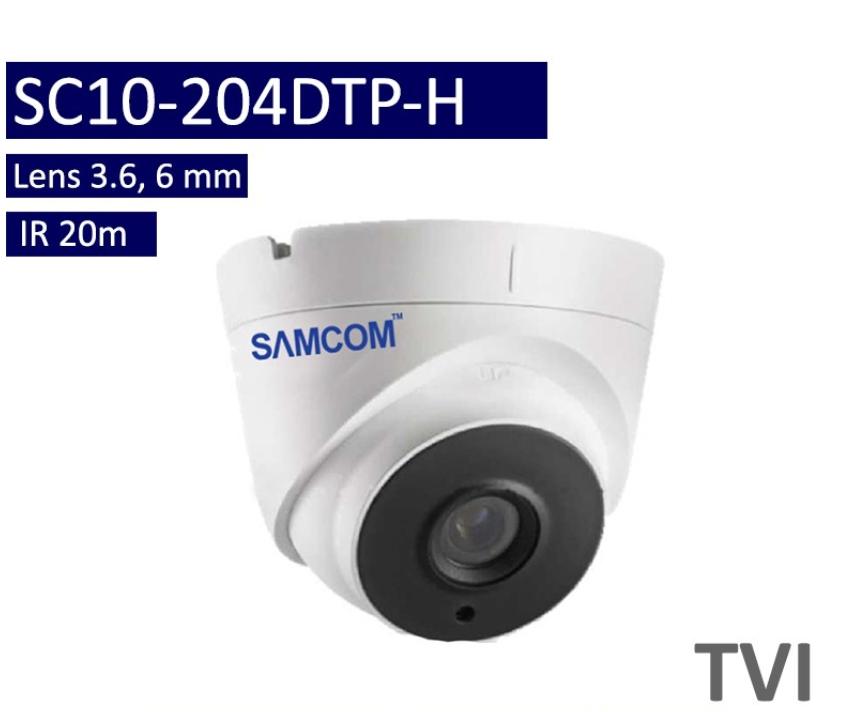 กล้องวงจรปิด 2ล้าน TVI รองรับPoC SC10-204TP-H