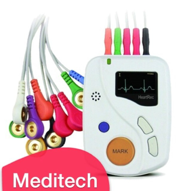 Meditech Portable ECG Recorder 48h 12 Lead Holter Heartrec Eco+Software