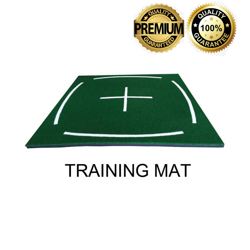 แผ่นหญ้าเทียมซ้อมไดร์ฟ Training Mat ลายเส้นขาว (150x150 ซม.)