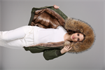 Wholesale bomber with faux fur lined popular winter women jackets