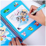 Children's puzzle magic magic creative reusable picture album water painting doodle book
