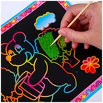 เด็กสร้างสรรค์สีภาพวาดภาพวาดรอยขีดข่วนกระดาษวาดภาพของเล่นการศึกษาเวทมนตร์หนังสือภาพวาดรอยขีดข่วน