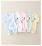 เสื้อผ้าเด็กสีม่วงเสื้อผ้าเด็กฤดูใบไม้ผลิและฤดูใบไม้ร่วงเสื้อผ้าเด็กฮา 0-2 ปีเก่าออกไปปีนเขาเสื้อผ้า