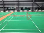 พื้นสนามกีฬาในร่มใช้สำหรับปูพื้นสนามแบดมินตัน